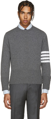 Thom Browne Grey Cashmere Pullover $1,590 thestylecure.com