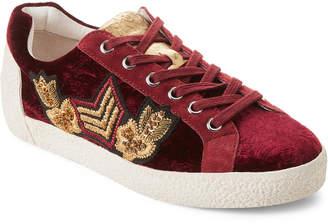 Ash Burgundy Nak Arms Velvet Low-Top Sneakers