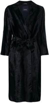 Max Mara 'S Ocroma belted fur coat