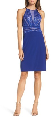 Women's Morgan & Co. Sequin Embellished Lace Sheath Dress $99 thestylecure.com