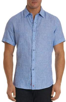 Robert Graham Gills Linen Regular Fit Button-Down Shirt