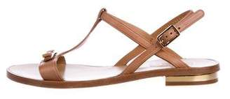 Salvatore Ferragamo Leather T-Strap Sandals