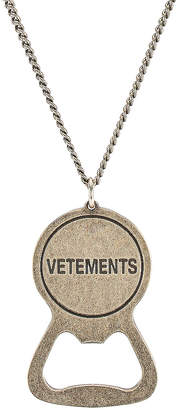 Vetements Bottle Opener Necklace in Silver | FWRD