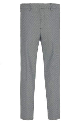 Givenchy Crosshatch Straight-Leg Wool-Blend Trousers