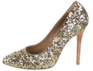 20eca37ac80 Dolce   Gabbana Pointed-Toe Sequin Pumps