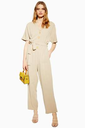 f0b3c7dee21f Linen Jumpsuit With Buttons - ShopStyle