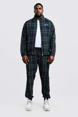 Big & Tall Smart Tartan Jogger With Piping