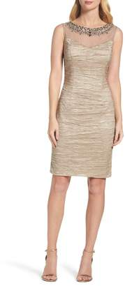 Eliza J Embellished Sheath Dress