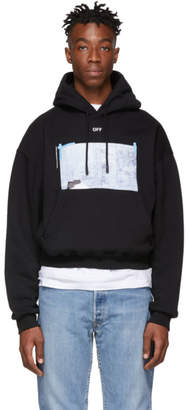 Off-White Off White Black Oversized Dondi Square Hoodie