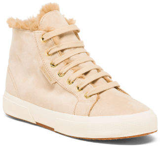 Lined High Top Sneakers