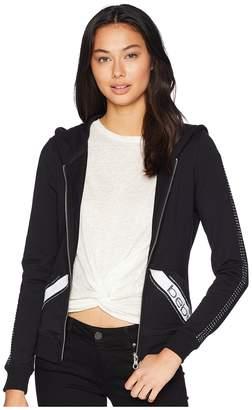 Bebe Long Sleeve Rhinestones Logo Hoodie Women's Sweatshirt