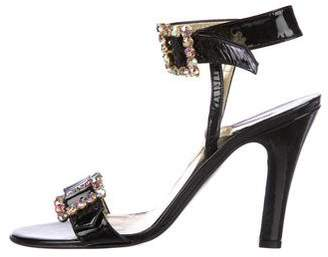 Dolce & Gabbana Embellished Patent Leather Sandals