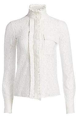 Chloé Women's Floral Lace Blouse