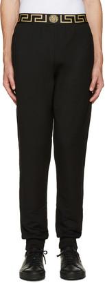 Versace Underwear Black Medusa Lounge Pants $350 thestylecure.com