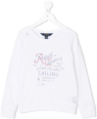 Ralph Lauren Kids graphic print sweatshirt