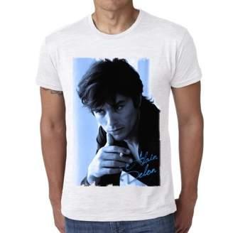 Alain Delon Blue : Men's T-shirt Celebrity Star ONE IN THE CITY - , XXL