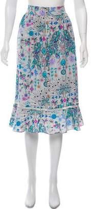 Matthew Williamson Floral Bespoke Print Skirt