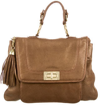 Rebecca Minkoff Embossed Leather Satchel $145 thestylecure.com