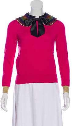 Gucci 2017 Bow-Accented Cashmere Sweater w/ Tags