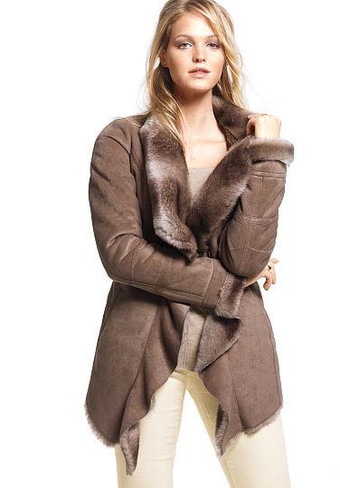 Victoria's Secret Faux-shearling Cascade Coat