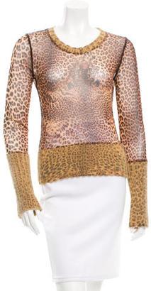 Jean Paul Gaultier Sheer Printed Top $95 thestylecure.com