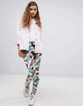 Monki camo print leggings