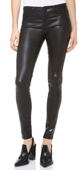 J Brand Coated Super Skinny Jeans