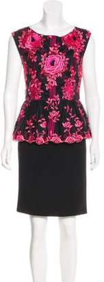 Alice + Olivia Embroidered Silk Dress w/ Tags