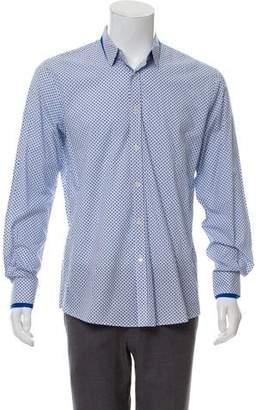 Alexander McQueen Skull Print Button-Up Shirt