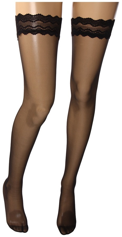 Wolford Day Night 10 Stay-Up Thigh Highs (Black) - Footwear