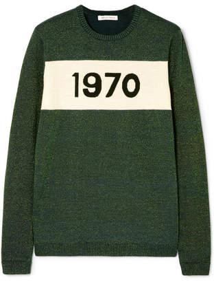 Bella Freud 1970 Metallic Wool-blend Sweater - Green
