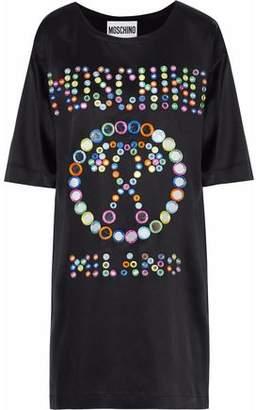 Moschino Embellished Satin Mini Dress