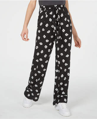 BeBop Juniors' Printed Tie-Waist Pants