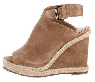 Vince Suede Round-Toe Espadrille Wedges