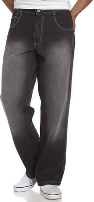 Southpole Men's Big and Tall Basic Relaxed Fit Premium Denim