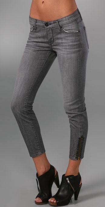 Rich & Skinny Vivid Zipper Crop Jeans