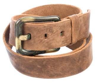 Just Cavalli Distressed Leather Belt w/ Tags