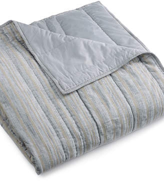 Hotel Collection Linen Stripe Full/Queen Coverlet
