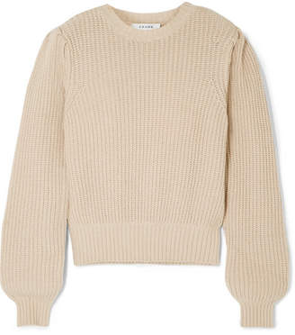 Frame Cotton-blend Sweater - Beige