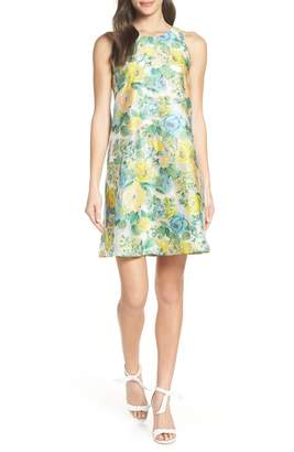 Mark & James by Badgley Mischka MARC AND JAMES BADGLEY MISCHKA by Badgley Mischka Floral Brocade Trapeze Dress