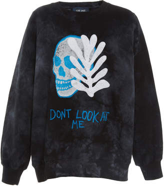Lost Daze Dont Look At Me Cotton-Jersey Sweatshirt