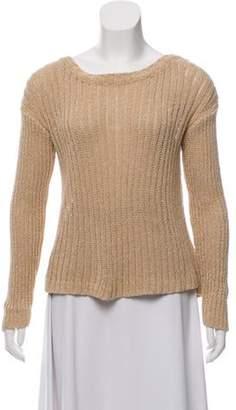 Alice + Olivia Semi-Sheer Knit Sweater Tan Semi-Sheer Knit Sweater