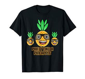 Party Like A Pineapple Love Thug Pine Funny Tropical Fruit T