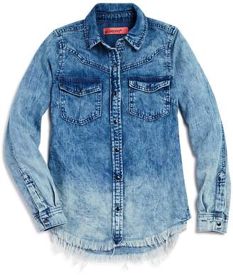 Blank NYC Blanknyc Girls' Ombre Chambray Shirt