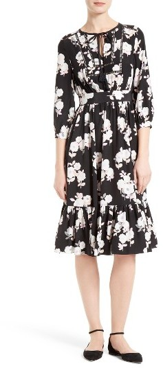 Kate Spade Women's Kate Spade New York Posy Floral Silk Midi Dress