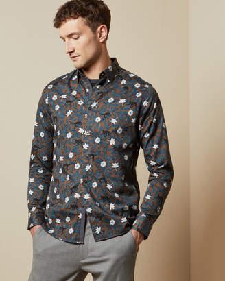 Ted Baker YEUX Monkey print cotton shirt