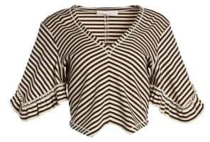 See by Chloe Striped Crop Tee