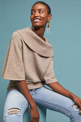 Moth Cowl-Neck Poncho Pullover