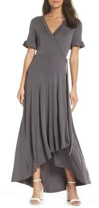 NSR Luna Maxi Wrap Dress