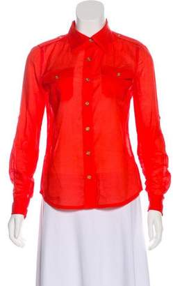 Tory Burch Collared Button-Up Top